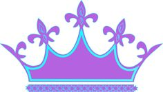 Purple Blue Crown