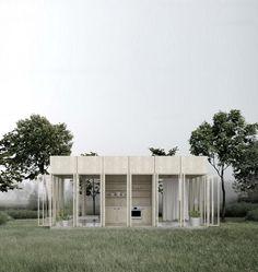 Door pavilion Garden Pavilion, Small Buildings, Under Construction, Conservatory, Signage, Garage Doors, Floor Plans, Studio, Luxury