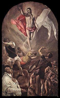El Greco, La Resurrección de Cristo, pintado para Santo Domingo el Antiguo de Toledo. El Greco rebasa el concepto de artista renacentista por su constante búsqueda de un universo propio y original. Influido por Tintoretto y Miguel Ángel, su arte va a conocer su mayor desarrollo en Toledo.