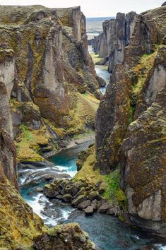 The Fjadrargljufur gorge in Iceland by elxeneize. The Fjadrargljufur gorge in the south of Iceland