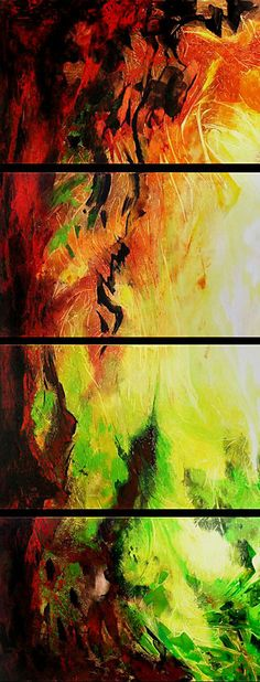 abstract art painting on 4 canvases  http://www.artyou.com/item/82 #abstract #art #paintings
