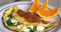 The Food Lovers' Primal Palate: Spinach and Goat Cheese Omelet Egg Recipes, Paleo Recipes, Clean Eating, Healthy Eating, Healthy Life, Healthy Breakfast Recipes, Breakfast Spinach, Breakfast Ideas, Breakfast Omelette