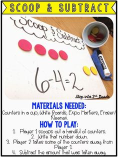 Subtraction Game:  Scoop and Subtract and more fun math games