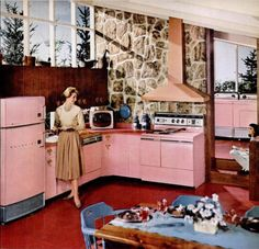That is the kitchen of my dreams... it even has the matching washer and dyer!