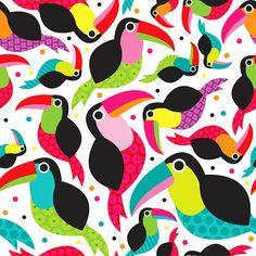 Cute patchwork tucan surface pattern by Little Smilemakers Studio #print #tucan #bird #surfacepattern #pattern #design #art #illustration #brazil #wall #inspiration #bird #birds #kids #fabric http://www.facebook.com/LittleSmilemakersStudio