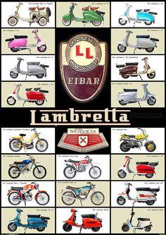Lambretta Eibar. La policia de New York tenía motos Lambretta fabricadas en Eibar. Una moto de primera...
