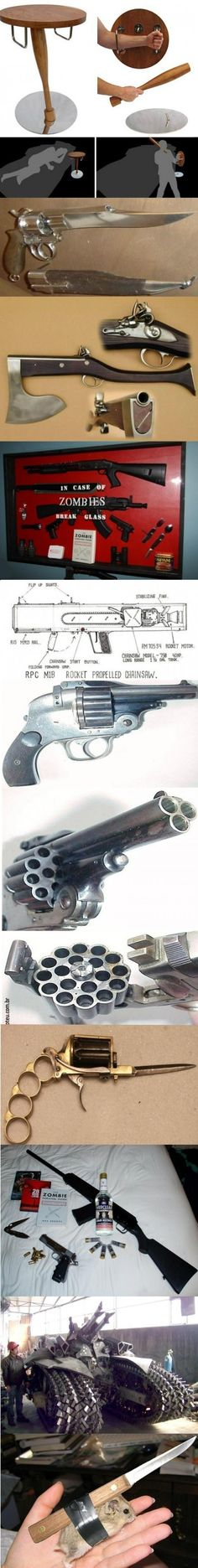 Weapons Of Choice During A Zombie Apocalypse