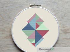 modern geometric cross stitch pattern PDF pattern  by Happinesst