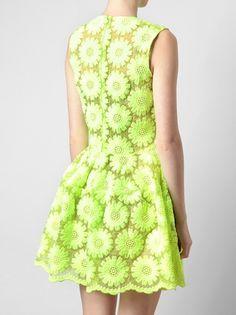 Simone Rocha - Floral Embroidered Silk-blend Dress 3