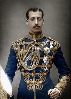 "Prince Albert Victor ""Eddy"" (Albert Victor Christian Edward) (8 Jan 1864-14 Jan 1892) UK.1st Child of King Edward VII (Albert Edward) (1841-1910) UK & wife Princess Alexandra (1844-1925) Denmark. His fiancée in1891 was Princess Mary ""May"" (26 May 1867-24 Mar 1953) Teck, Germany, who married his brother, King George V (1865-1936) UK, when Albert Victor died during an influenza pandemic."