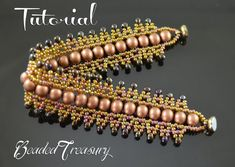 "Beading pattern, seed bead pattern, beaded lace bracelet pattern. ""Bead Dance"" / TUTORIAL ONLY"