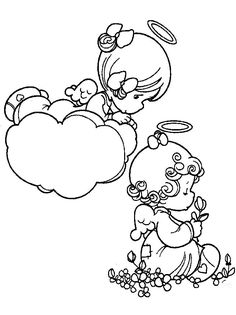Precious Moments Angel Coloring Pictures - Precious Moments
