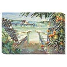 "Gallery-wrapped canvas giclee reproduction with a coastal motif.  Product: Wall artConstruction Material: Cotton canvas and woodFeatures:  Original art by Kathleen DenisGallery wrapped with 1.5"" wood stretcher barsReady to hang Note: Printed with the highest quality pigment inks and then coated with a custom aqueous top-coat. This not only protects the image surface from scratches and abrasions, but offers UV protection to the inks and canvas surface. Cleaning and Care: Clean with damp cloth"