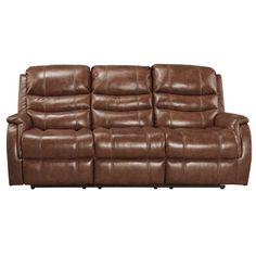 ashley metcalf nutmeg power reclining leather sofa weekends only furniture and mattress. beautiful ideas. Home Design Ideas