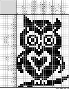 Crochet 101, Filet Crochet, Loom Beading, Beading Patterns, Knitting Charts, Knitting Patterns, Motif Fair Isle, Owl Facts, Diy Bracelets Easy