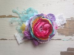 Summer Sweets headband by Clairebow Baby by ClairebowBaby on Etsy