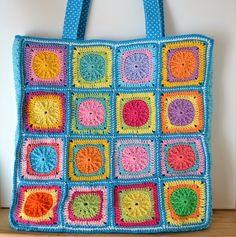 Elealinda-Design: Granny Square Tasche für Mama