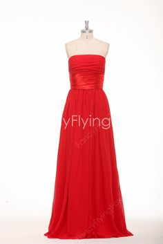 fancyflyingfox.com Offers High Quality Beautiful Strapless Neckline A-line Floor Length Red Bridesmaid Dresses ,Priced At Only US$140.00 (Free Shipping)