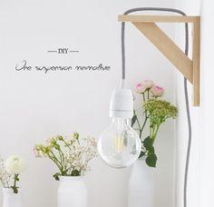 DIY : une suspension minimaliste - Do it yourself Diy Luz, Diy Home Decor, Room Decor, Diy Décoration, Diy Interior, Home And Deco, Home Living, New Room, Decoration