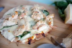 Grilled Chicken & Spinach Pita Pizza