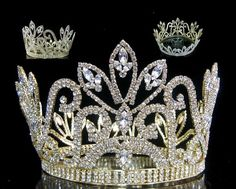 Mariola Rhinestone Beauty Full Round Gold Pageant Crown