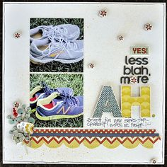 Scrapbook the little moments in life, like bright new tennis shoes!