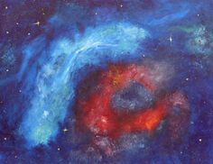 """Oil painting on primed cardboard """"The space"""""""