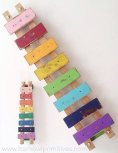 Wooden Wall Art Large Xylophone  Vintage Style by barnowlprimitives Barn Owl Primitives