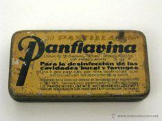 Antigua lata de medicamento PANFLAVIAN de BAYER. Medicina, Farmacia.