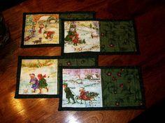 Christmas Mug Rugs by arianescrafts,