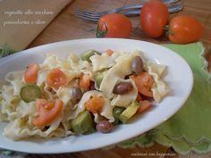 Reginette+alle+zucchine+pomodorini+e+olive