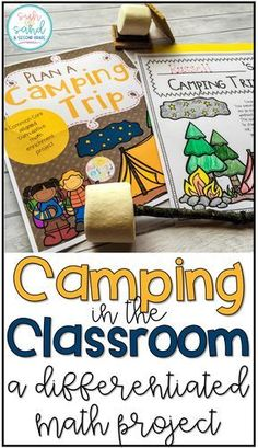 Camping in the classroom - students use MATH to plan a camping trip for them and a friend. Differentiated and engaging! This spirals several math skills, and is a great math project for enrichment or early finishers. Teaching Money, Teaching Math, Teaching Multiplication, Teaching Time, Teaching Measurement, Math Lessons, Math Skills, Enrichment Activities, Summer Activities