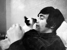 """""""We were in America when the cat licked John's nose, and he started stroking it. Very much him. I never saw John as a hard bastard at all. Never saw him bite, or be disrespectful. I miss him a great deal."""" - Robert Whitaker"""