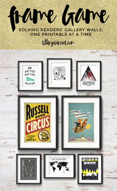 Little Gold Pixel Printable Gallery Wall Art Set