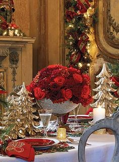 Christmas table setting..