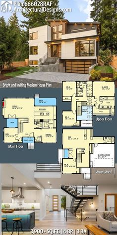 Modern Two Bedroom House Plans . Modern Two Bedroom House Plans . Plan Raf Bright and Inviting Modern House Plan In Sims House Plans, Dream House Plans, Modern House Plans, Modern House Design, My Dream Home, Dream Homes, Modern Floor Plans, Casas The Sims 4, House Blueprints