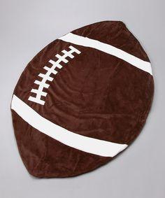 Look what I found on #zulily! Touchdown Football Blanket #zulilyfinds