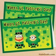 st patricks minion card FREE Printable Despicable Me St. Patricks Day Minion Card