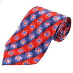 Chicago Cubs Print Silk Tie $24.95 @Leslie Mallman Cubs