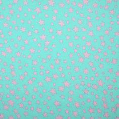 Sternenstoff Meer Grün / Rosa