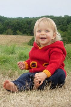 Oh-Oh Hoodie FREE knitting pattern - Size 12 months to 7 years