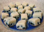 Blueberry Cheesecake Fudge Recipe - candy thermometer not needed.  This fudge didn't turn out well for me.