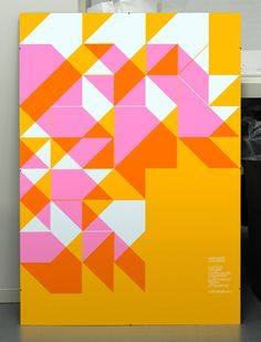 MuirMcNeil Panopticon poster: silk-screened neons, Naturalis Absolute Smooth, 160gsm, 100x70cm, Edition 100