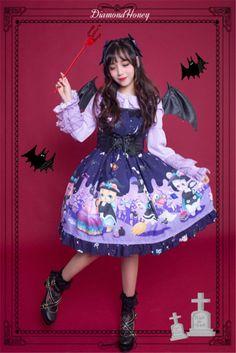 diamond honey witch town lolita dress