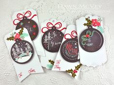 Holiday Tags by Dawn McVey for Papertrey Ink (October 2014)