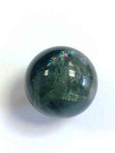 Green Fluorite crystal ball Crystal Shop, Crystal Ball, Crystal Healing, Minerals, Christmas Bulbs, Spirit, Rainbow, Crystals, Stone