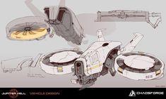 ArtStation - Jupiter Hell - Drone concept art, Ewa Labak #DroneConcept #DronesConcept