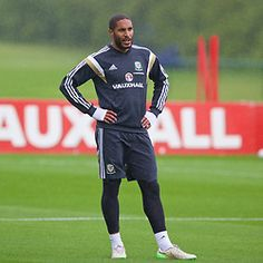 CARDIFF, WALES - Monday, June 1, 2015: Wales' captain Ashley Williams during a…