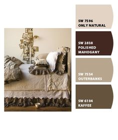 Like these neutral tones for basement. Paint colors from Chip It! by Sherwin-Williams