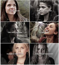 Ladies of the 100 || Octavia Blake, Raven Reyes, Clarke Griffin || Marie Avgeropoulos, Lindsey Morgan, Eliza Jane Taylor